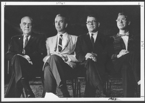 Dr. Will Menninger and his sons Roy, Phil and Walt - Page