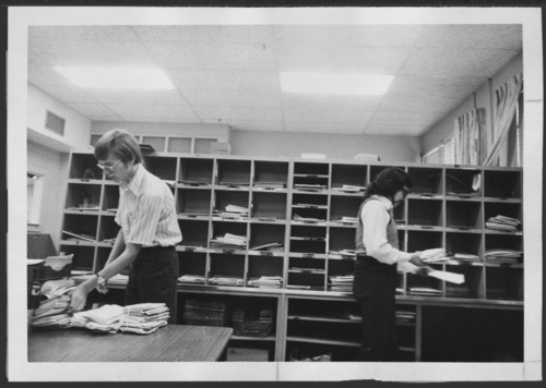 Mail room at the Menninger Clinic, Topeka, Kansas - Page