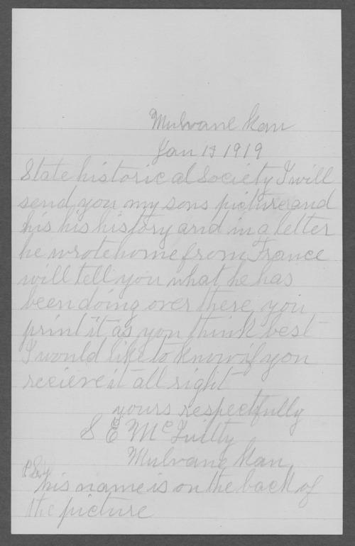Floyd O. McQuitty, World War I soldier - Page