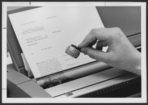 Selectric typewriter - Page