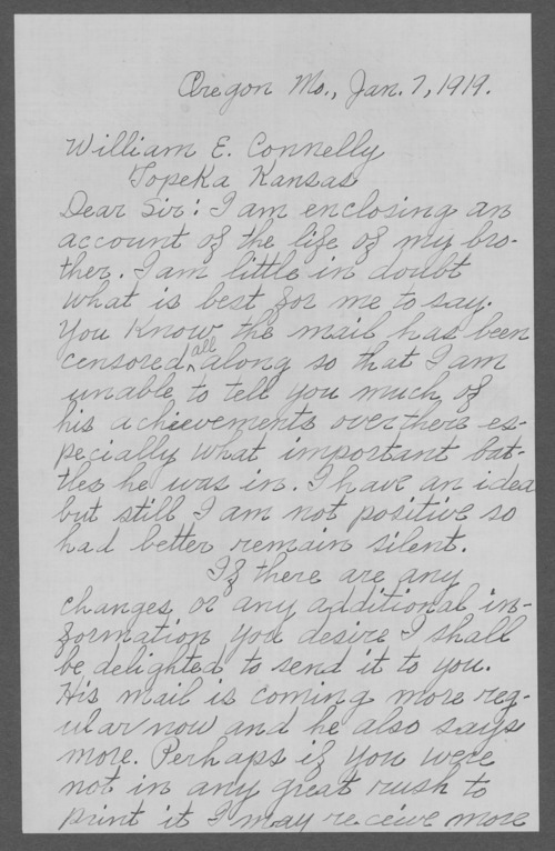 Frank Allek Berry, World War I soldier - Page