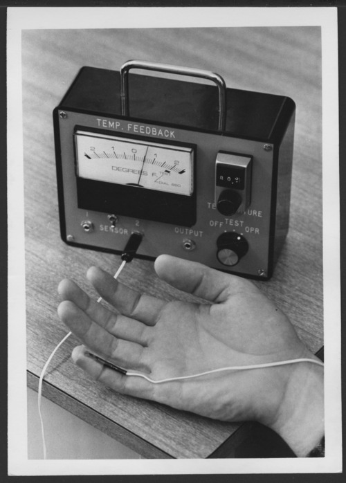 Biofeedback sensor machine at the Menninger Clinic in Topeka, Kansas - Page