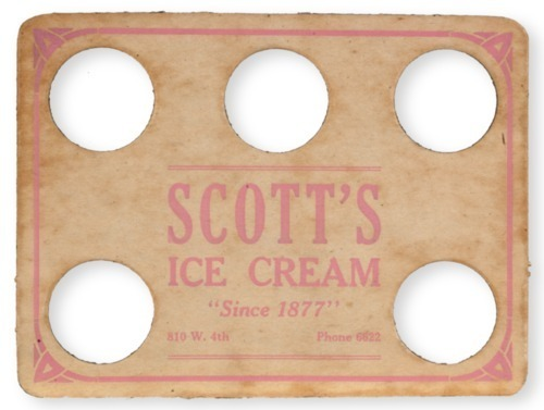 Scott Brothers Ice Cream serving tray - Page