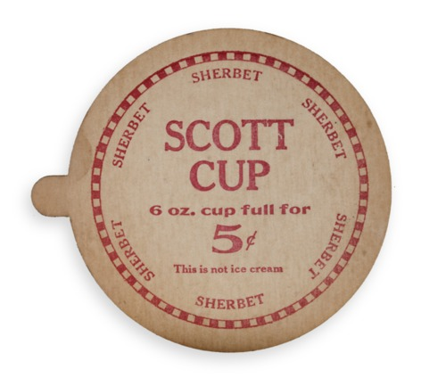 Scott Brothers Ice Cream carton lid - Page