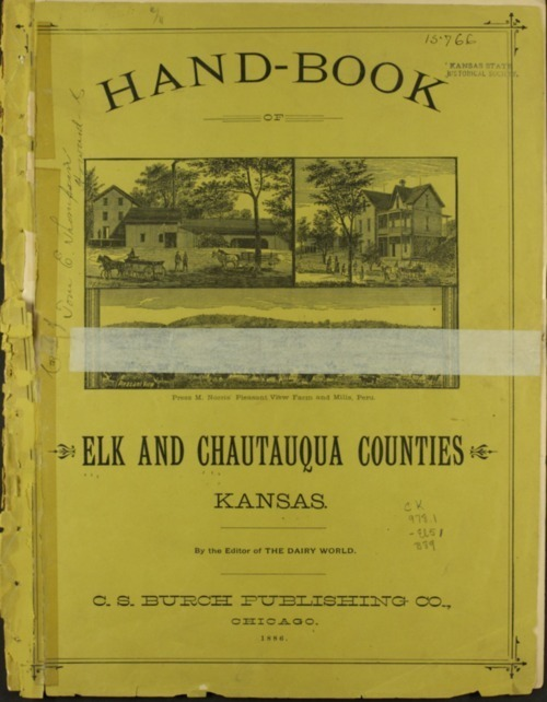 Handbook of Elk and Chautauqua Counties, Kansas - Page