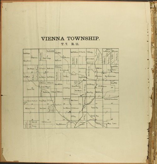 The Onaga courier's sectional township map of Pottawatomie County, Kansas - Page