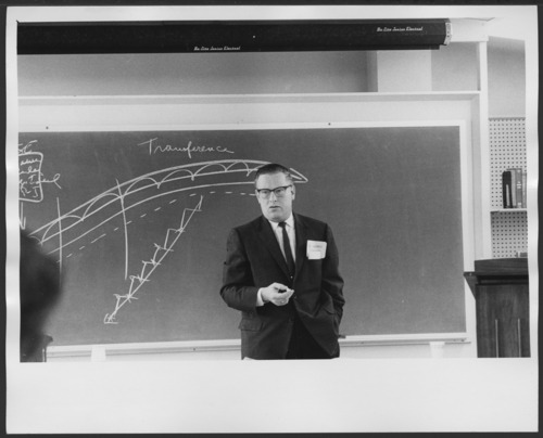 Harry Levinson, Ph.D. lecturing at the Menninger Foundation, Topeka, Kansas - Page