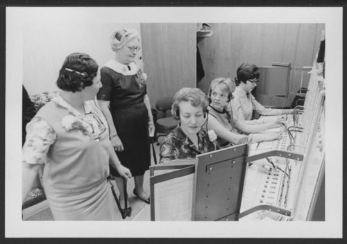 Switchboard of the new phone system at the Menninger Clinic in Topeka, Kansas - Page