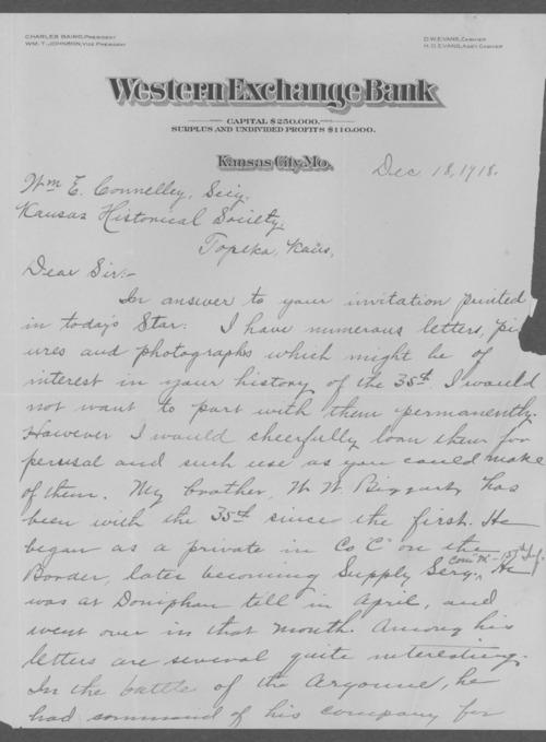 William Wendle Biggart, World War I soldier - Page