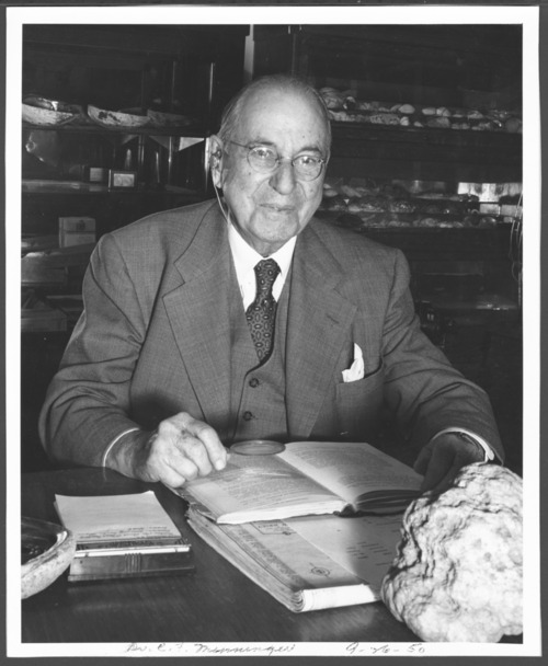 Dr. C.F. Menninger with his mineralogy collection - Page