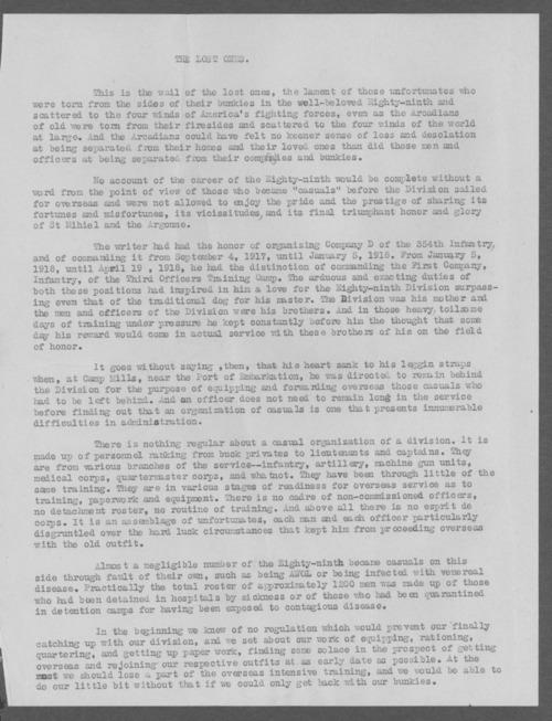 Harry L. Black, World War I soldier - Page