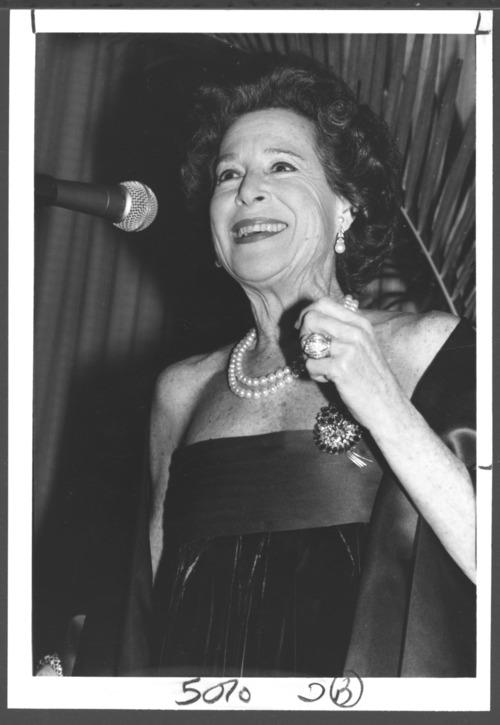 Kitty Hart at Karl Menninger's 90th birthday celebration - Page