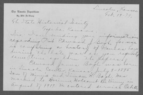 Edward James Bogh, World War I soldier - Page