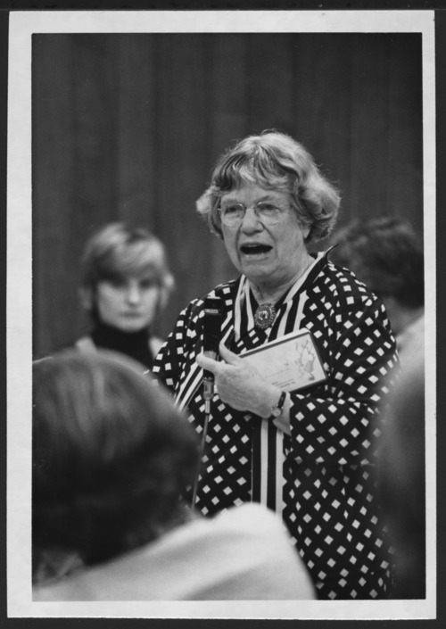Margaret  Mead visiting at the Menninger Foundation, Topeka, Kansas - Page