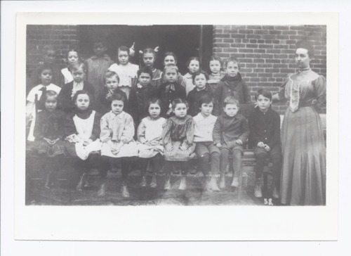 Students and teacher, Rossville, Kansas - Page