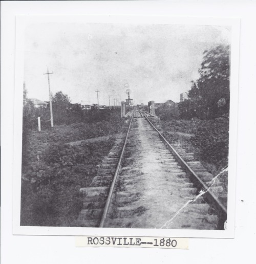 Railroad tracks, Rossville, Kansas - Page