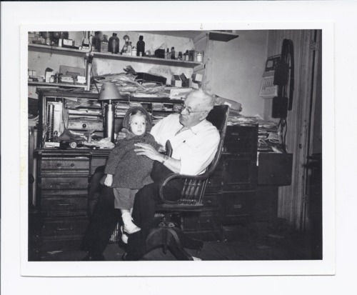 Dr. Henry B. Miller holding Shelley McClain, Rossville, Kansas - Page