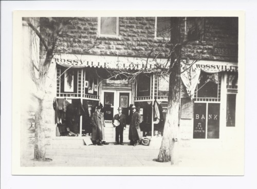 H.L. Miller's Rossville Clothing Store and Rossville State Bank, Rossville, Kansas - Page