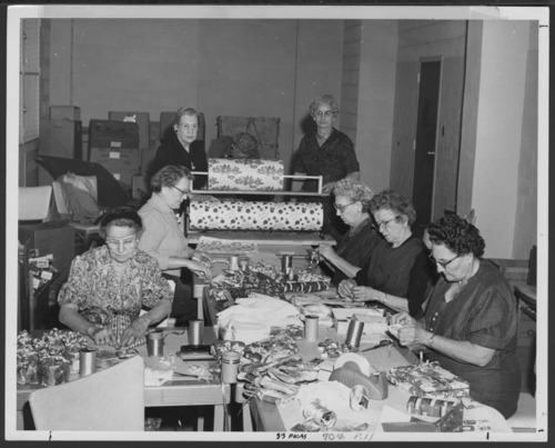 Wrapping Christmas gifts, Veterans Administration Hospital, Topeka, Kansas - Page