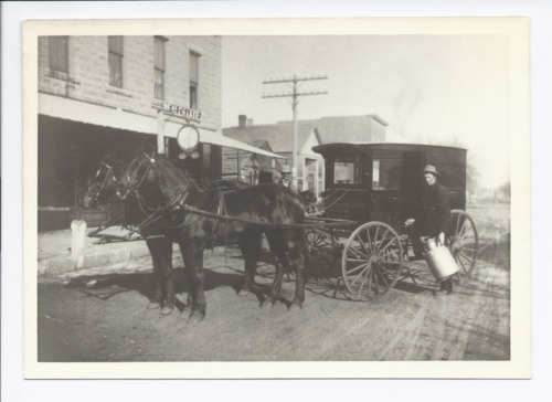 Bruce Jamieson and the milk delivery wagon, Rossville, Kansas - Page