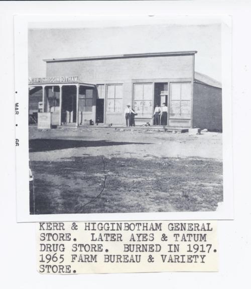 Kerr & Higginbotham Mercantile, Rossville, Kansas - Page