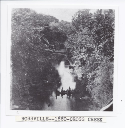 People in a canoe on Cross Creek, Rossville, Kansas - Page
