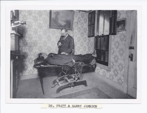 Dr. Henry Fuller Pratt and patient Harry Jamieson, Rossville, Kansas - Page