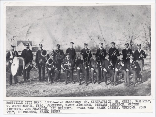 Band members, Rossville, Kansas - Page