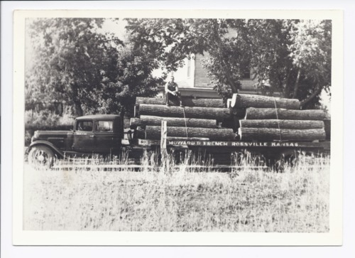 Howard French hauling logs, Rossville, Kansas - Page