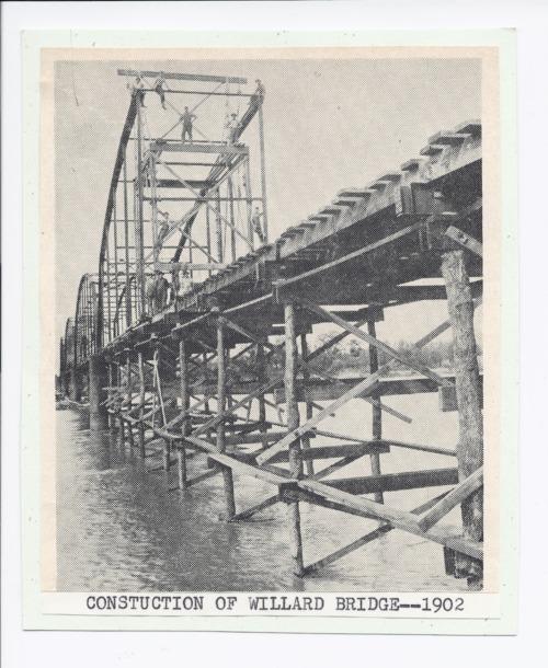 Construction of the Willard bridge, Willard, Kansas - Page