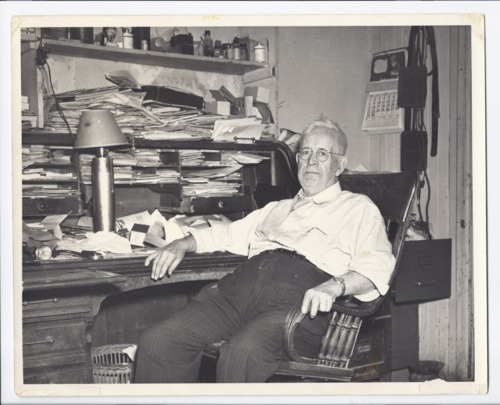 Dr. Henry B. Miller in his office, Rossville, Kansas - Page