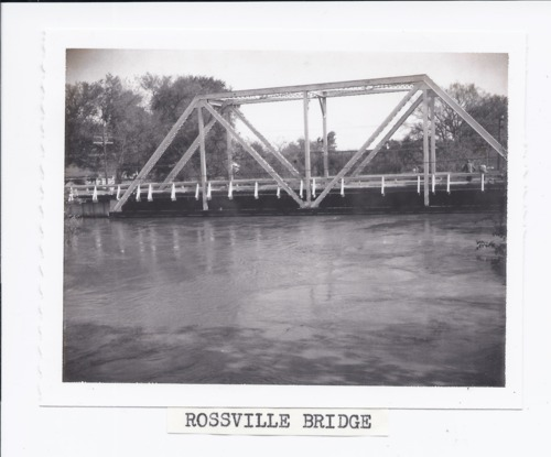 Rossville bridge during the 1961 flood, Rossville, Kansas - Page