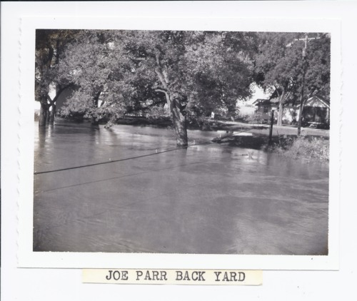 Joe Parr's backyard during the 1961 flood, Rossville, Kansas - Page
