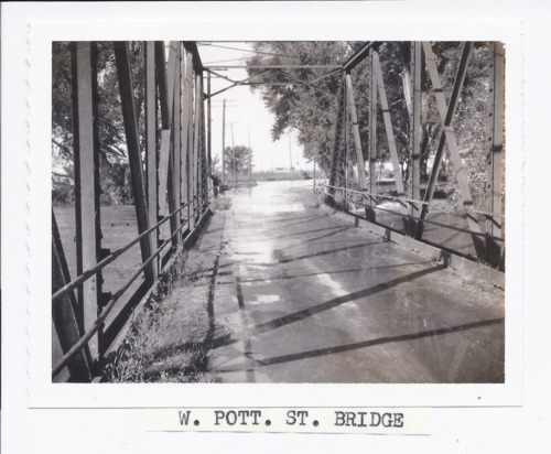 Rossville bridge during the 1961 flood, Rossville, Kansas - Page