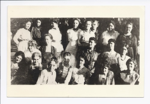 Group of women at the home of Ella Williams, Rossville, Kansas - Page