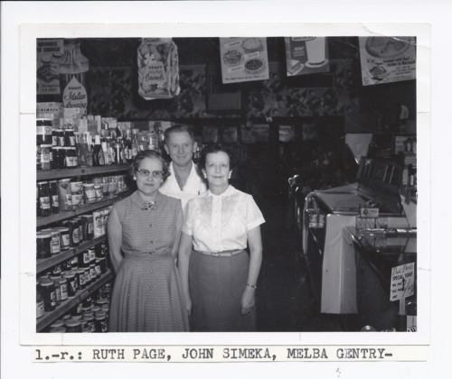 Ruth Page, John Simeka, and Melba Gentry, Rossville, Kansas - Page