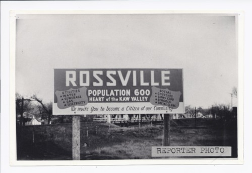 Welcome to Rossville, Kansas, sign - Page