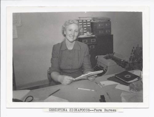 Christina Zickefoose at Farm Bureau, Rossville, Kansas - Page