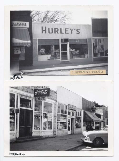 Before and after pictures of Hurley's Sundries store, Rossville, Kansas - Page