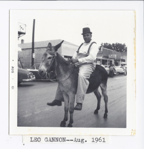 Leo Gannon in a parade, Rossville, Kansas - Page