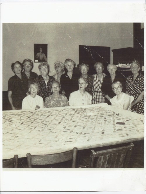 Women quilting, Rossville, Kansas - Page