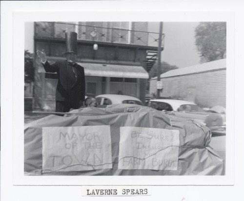 LaVerne Spears in parade, Rossville, Kansas - Page