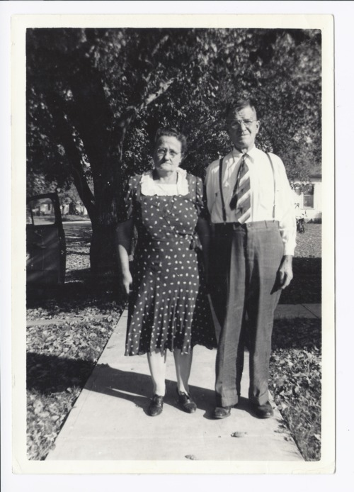 "Mr. and Mrs. J. H. ""Bud"" and Lillie Pearl Johnson, Rossville, Kansas - Page"