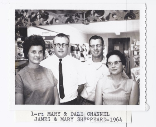 Mary and Dale Channel with James and Mary Sheppeard, Rossville, Kansas - Page