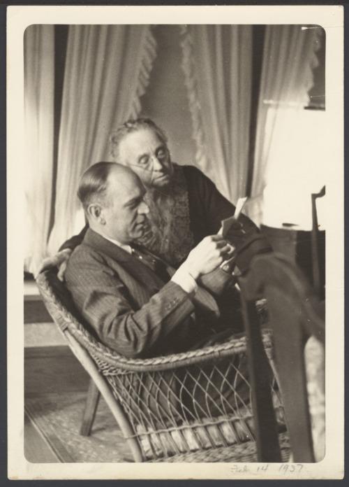 Flo Menninger and her son, Dr. William Menninger - Page