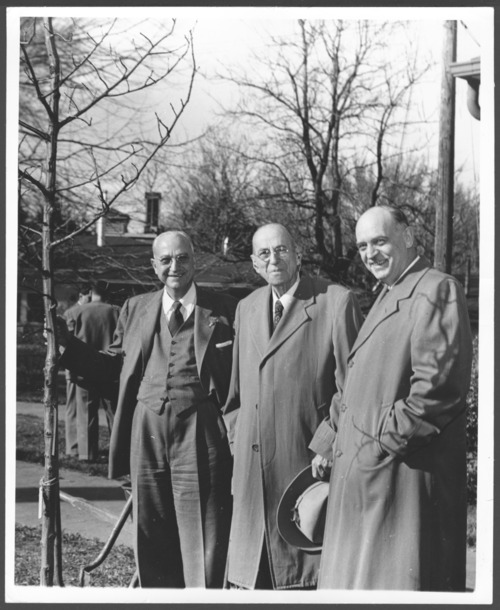 The three Drs. Menninger on Arbor Day in Topeka, Kansas - Page