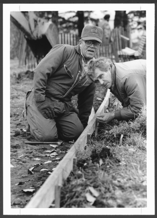Sidewalk construction at the Menninger Clinic in Topeka, Kansas - Page