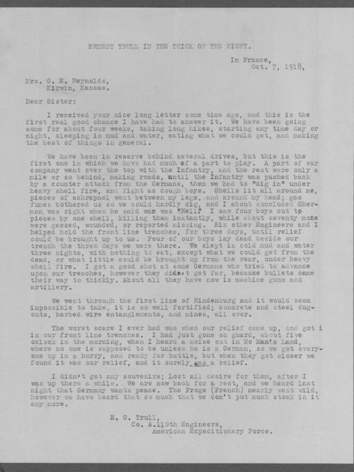 Ernest G. Trull, World War I soldier - Page