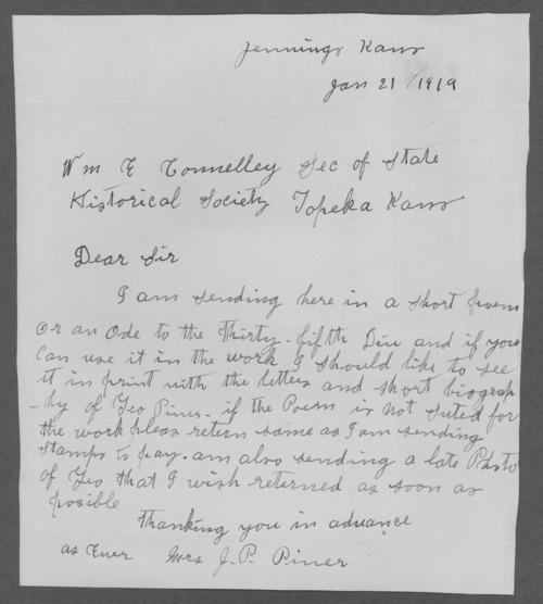 George W. Piner, World War I soldier - Page