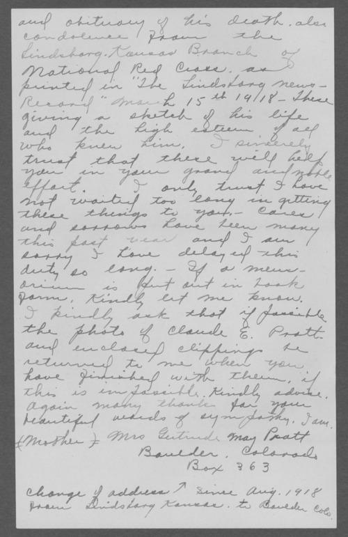 Claude Edward Pratt, World War I soldier - Page